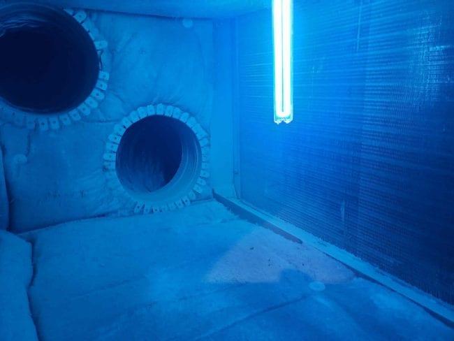 UV light installation