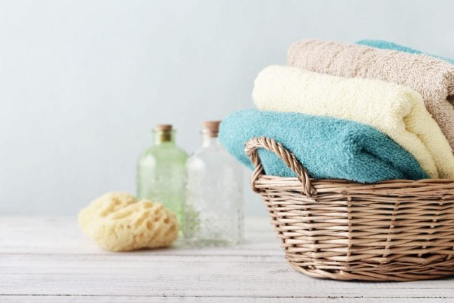 Bath towels and sponge - Air Quality Express Dryer Vent Cleaning in Richmond