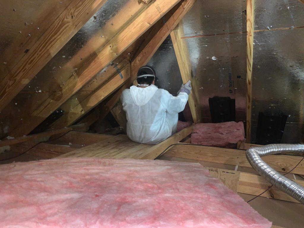 batt attic insulation